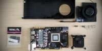 Mod GPU, montaje de bloque RL universal Ibercool y conversión a refrigeración Híbrida (Aire/Agua)