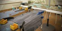 Inversión del chasis, limando paneles interiores de aluminio