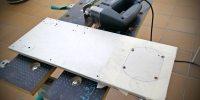 Inversión del chasis, cortando el panel inferior para dar entrada de aire al PSU