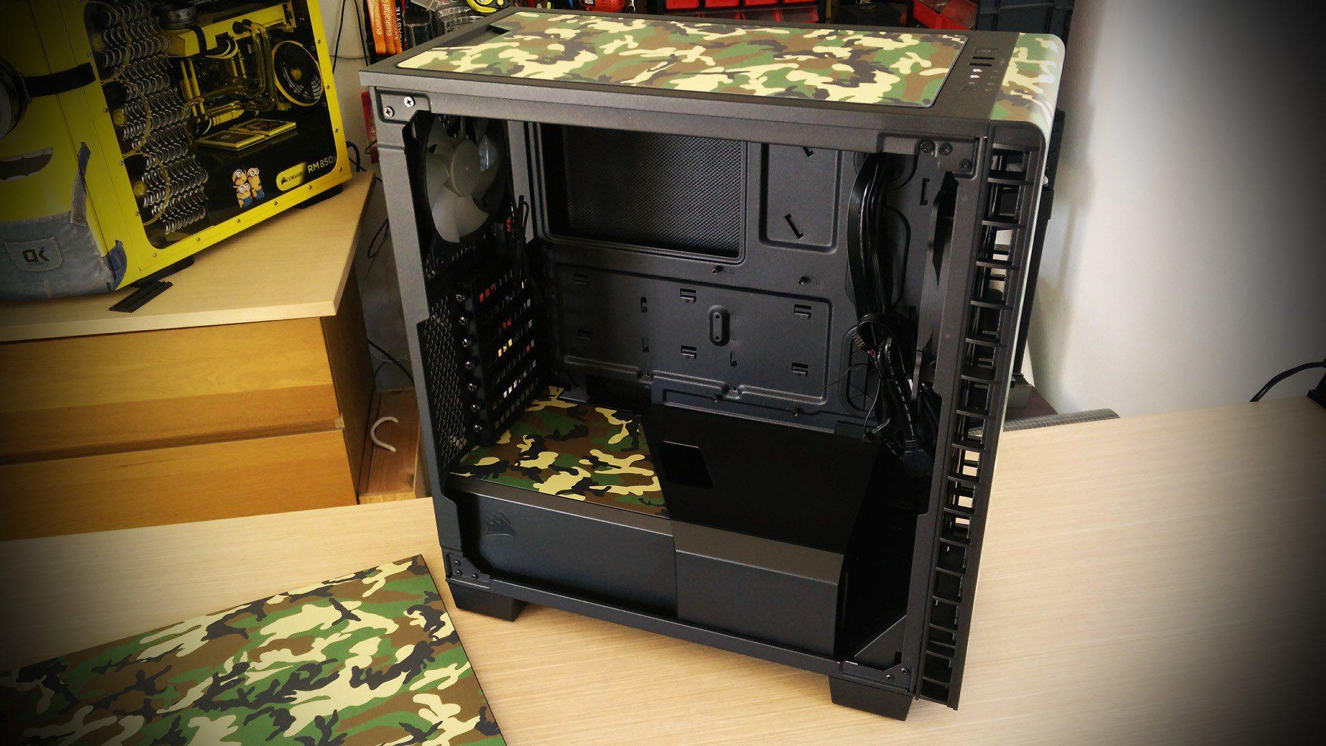 Corsair Carbide Quiet 400Q camouflage casemod by DeKa modder