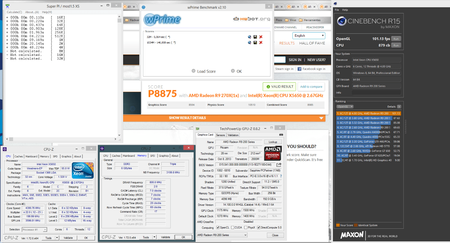 Intel Xeon X5650, socket 1366, Chipset X58, OC 4 4 Ghz