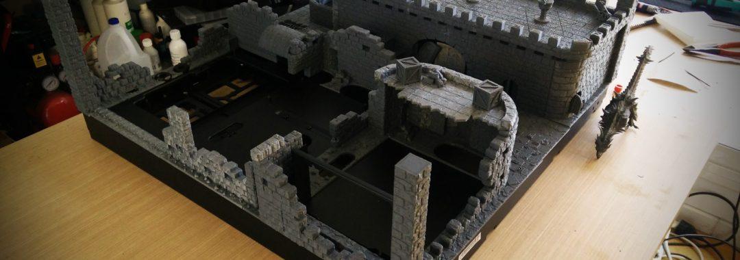 Medieval chess scene P5 Casemod by DeKa modder